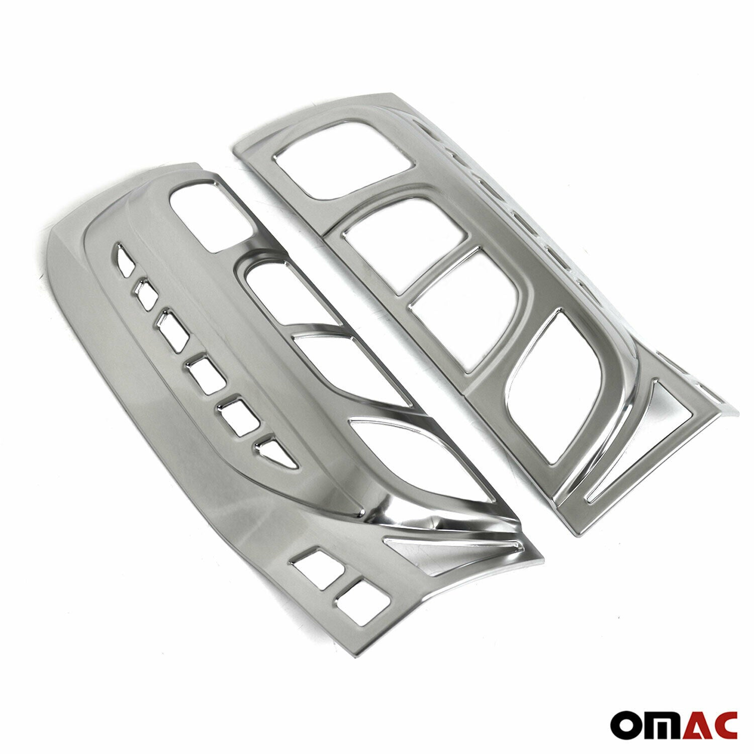 Satin Chrome Stop Brake Light Frame 2 Pcs For Citroen Nemo 2008-2017