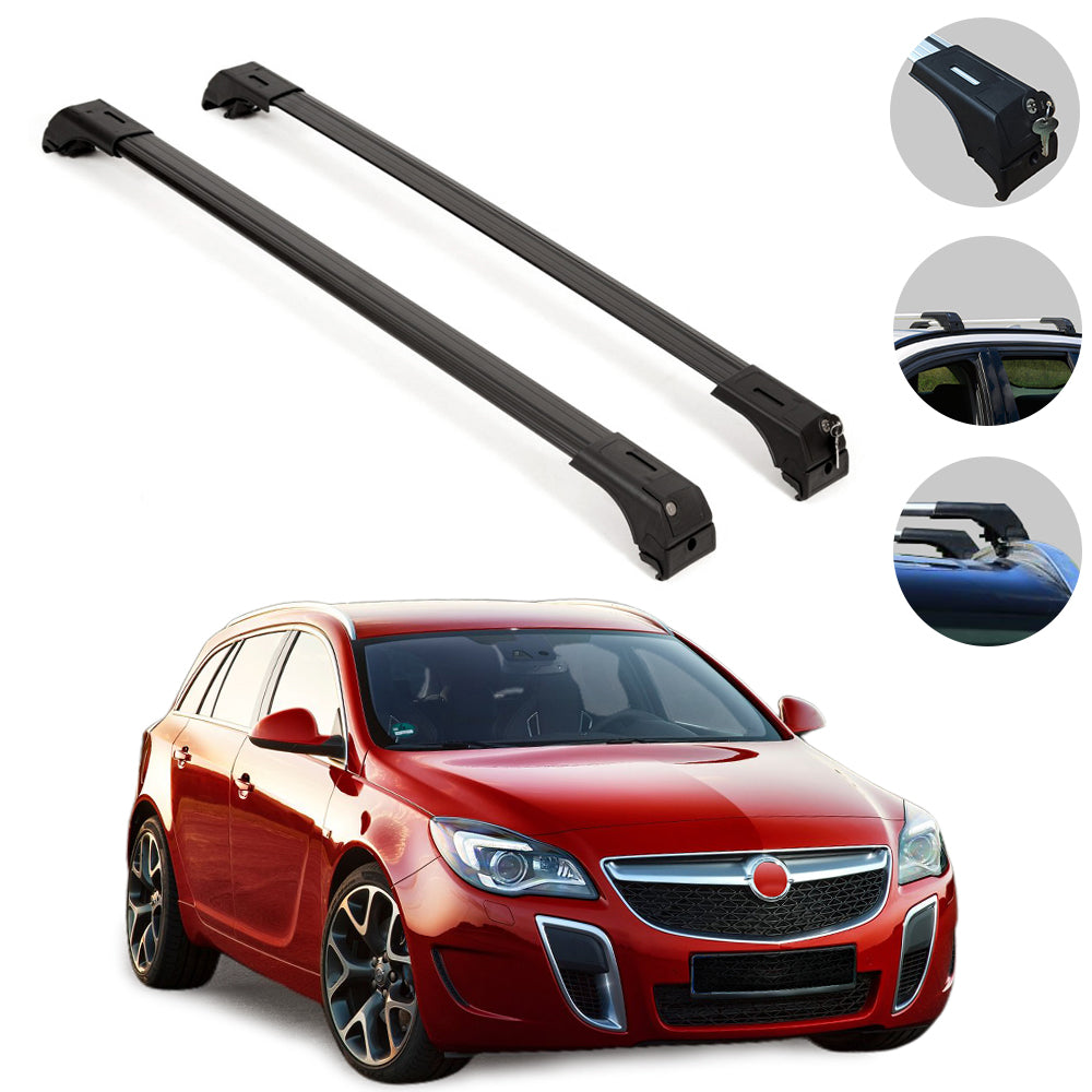 Roof Rack Cross Bars Luggage Carrier Fits Opel Insignia Sport Tourer 2009-2017