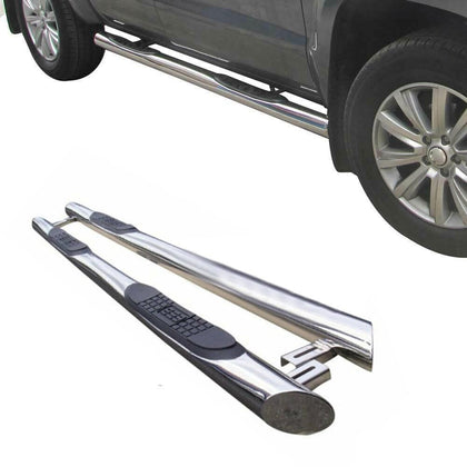 Side Steps Running Boards Nerf Bars S.Steel 2 Pcs. For Mercedes Metris 2016-2020 - Omac Shop Usa - Auto Accessories