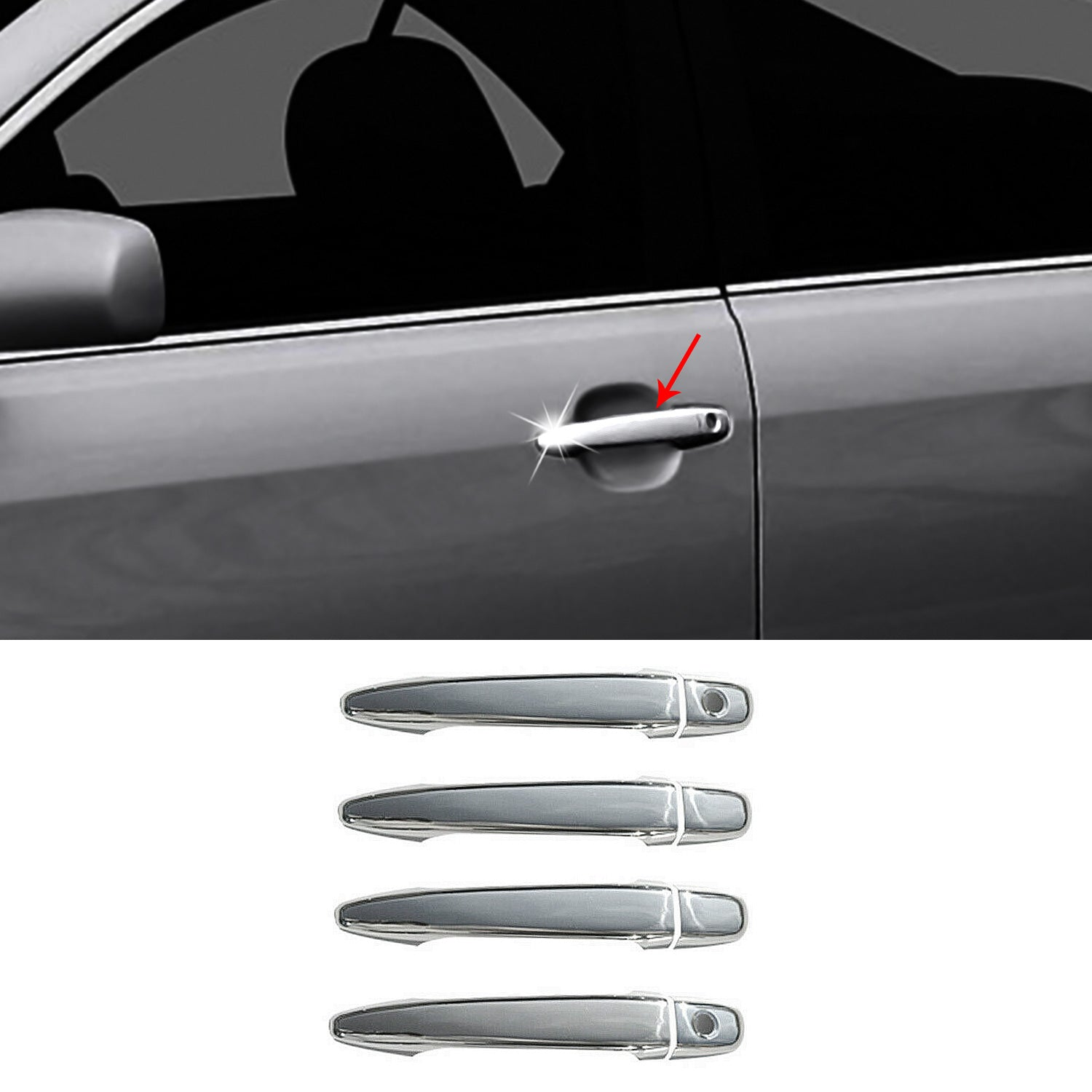 For Toyota Highlander & Avalon 2006- 2013 Chrome Side Door Handle Cover S.Steel