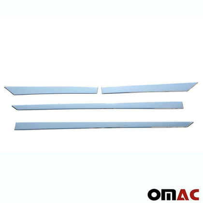 Chrome Side Door Streamer Trim Cover S.Steel 4 Pcs For Nissan Qashqai 2014-2020