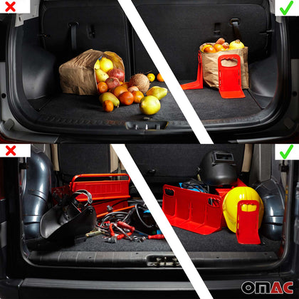Cargonizer Red Trunk Organizer Stopper 3 Pcs. For Dodge Challenger