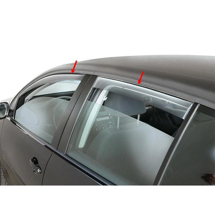 Window Visor Vent Sun Shade Rain Guard 4pcs Fits Audi A3 Sedan 2015-2019