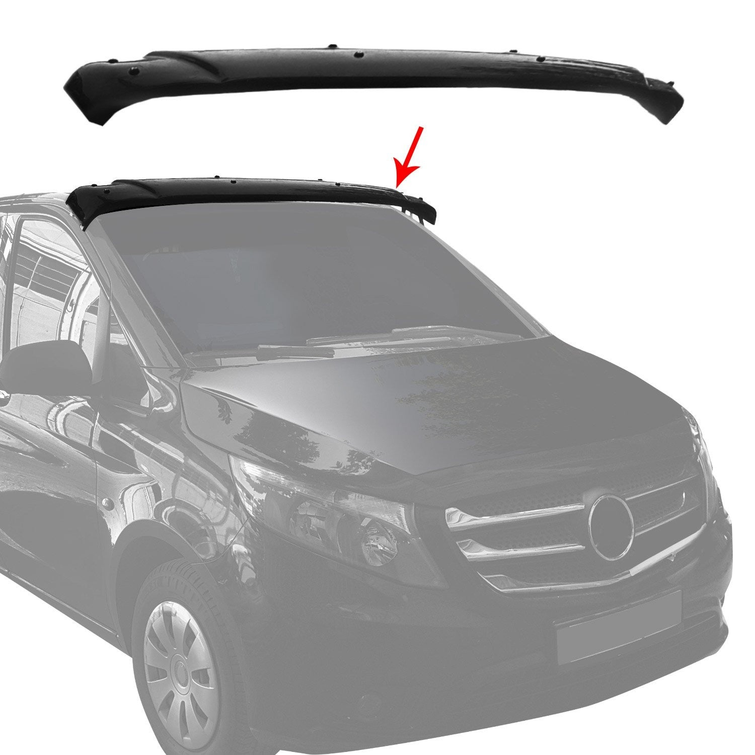 For Mercedes Metris W447 2016-20 Front Sun Visor Protector Windshield Deflector