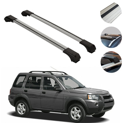 Omac usa - Land Rover Freelander 1997-2006 Roof Racks Cross Bars Cross Rails Alu SILVER SET - Omac Shop Usa - Auto Accessories