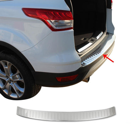 Fits Ford Escape 2013-2019 Chrome Rear Bumper Guard Trunk Sill Protector S.Steel