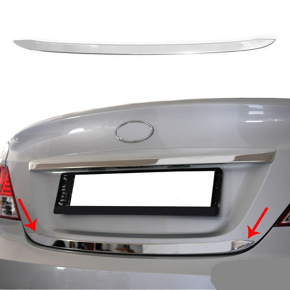 Fits Hyundai Accent 2012-2017 Chrome Lower Trunk Tailgate Trim Moulding S.Steel