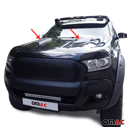 Decorative Air Flow Intake Scoop Bonnet Vent Hood For Ford Ranger XLT 2019-2020