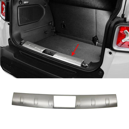 For JEEP Renegade 2019-2020 Chrome Inner Trunk Sill Cover Guard Brushed S.Steel