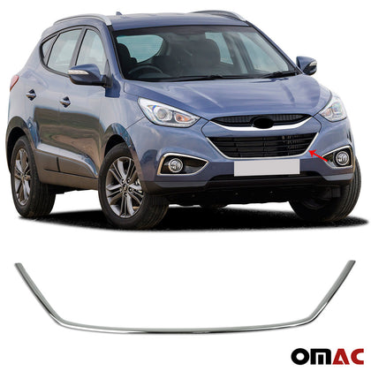 For Hyundai Tucson 2010-2015 Chrome Front Bumper Grill Frame Trim Cover S. Steel