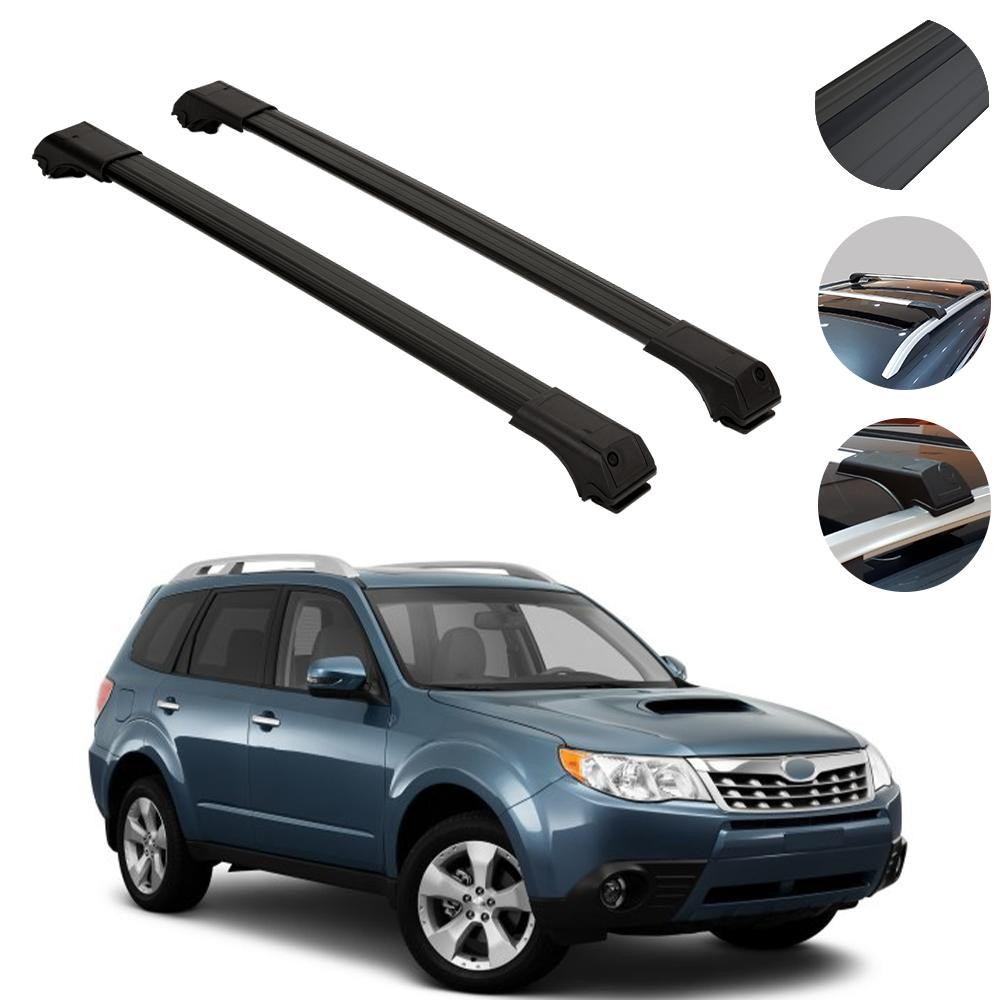Roof Rack Cross Bars Cross Rails Alu. Black 2Pcs for Subaru Forester 2009-2014