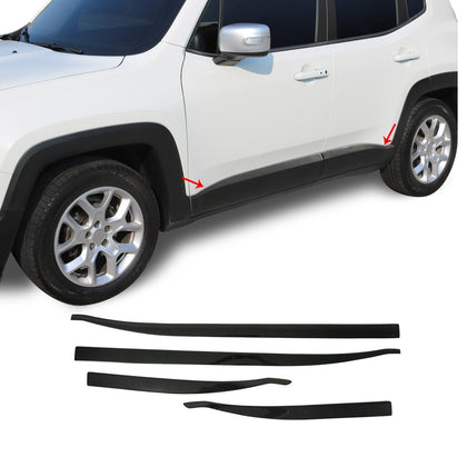 For Jeep Renegade 2015-2020 Genuine Carbon Fiber Side Door Streamer Trim 4 Pcs