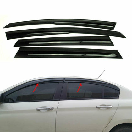 Window Visor Vent Sun Shade Rain Guard  4pcs Fits Honda Civic IX Sedan 2012-2016