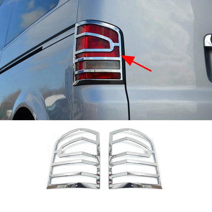 Fits VW Transporter T5 2010-2015 Chrome Brake Stop Light Frame Trim Cover 2 Pcs Omac Shop Usa - Auto Accessories
