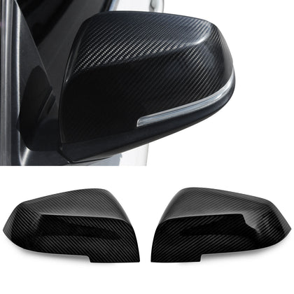 Fits BMW 3 Series F30 2012-2018 Genuine Carbon Fiber Side Mirror Cover Cap 2 Pcs