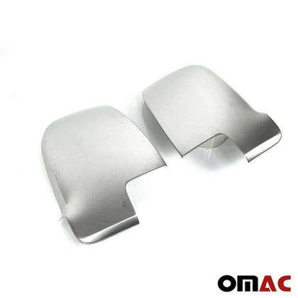 Fits Mercedes Sprinter 2500 2019-2020 Stainless Brushed Mirror Cover Cap 2 Pcs Omac Shop Usa - Auto Accessories
