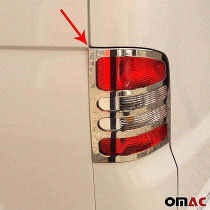 Fits VW Transporter T5 2003-2010 Chrome Stop Brake Light Frame S.Steel 2 Pcs Omac Shop Usa - Auto Accessories