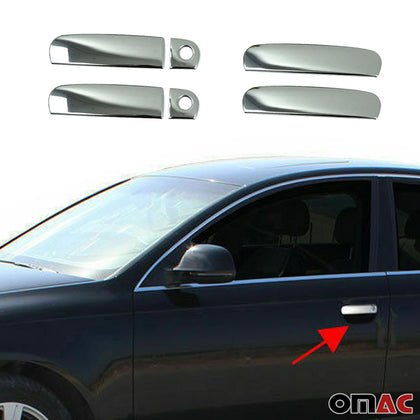 Fits Audi A3 1996-2003 Chrome Side Door Handle Cover Protector Trim Steel 6 Pcs Omac Shop Usa - Auto Accessories