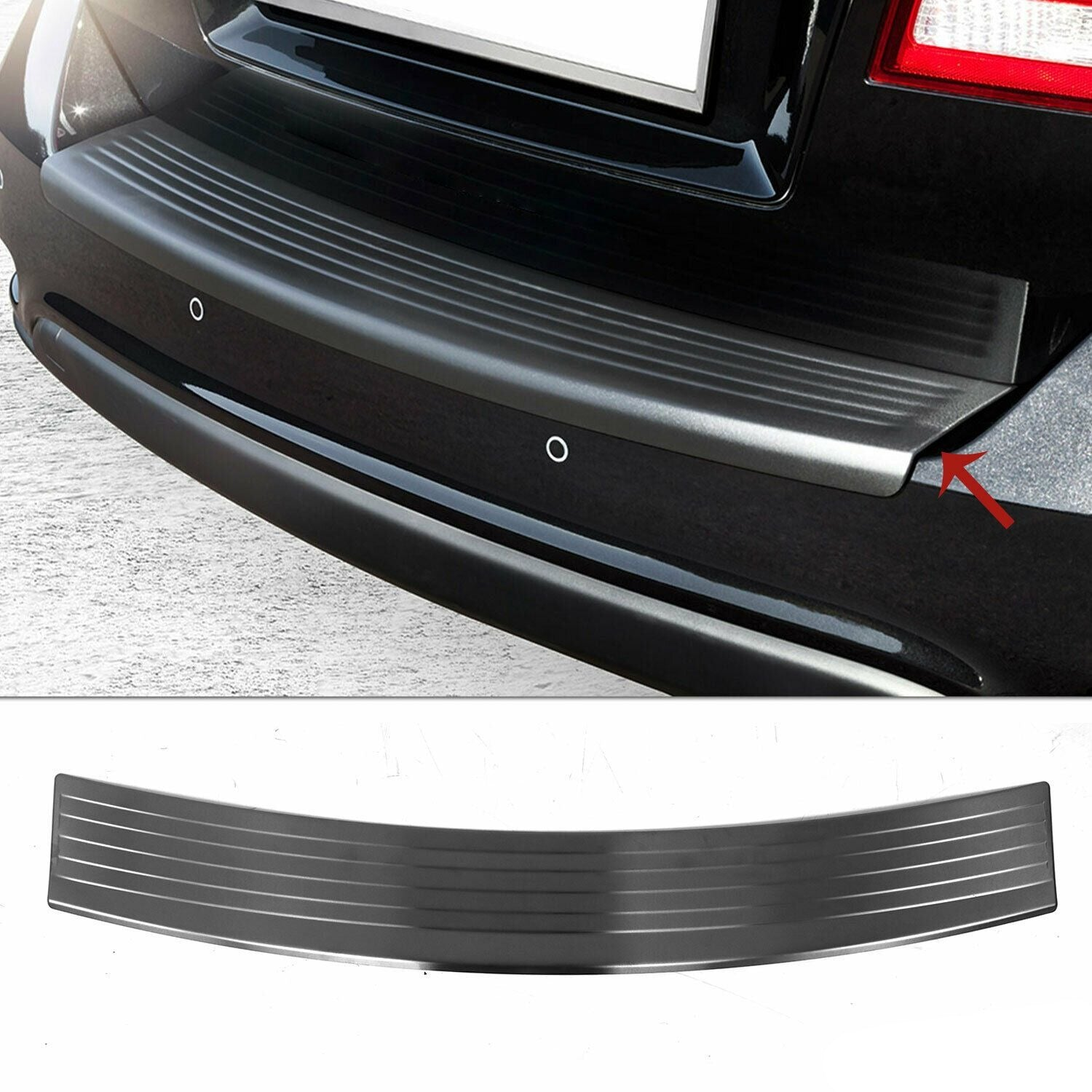 Dark Brushed Chrome Rear Bumper Trunk Sill Cover Fits Dodge Journey 2011-2021