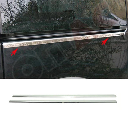Fits Ford Transit Connect 2010-2013 Chrome Sliding Door Streamer Stainless 2 Pcs Omac Shop Usa - Auto Accessories