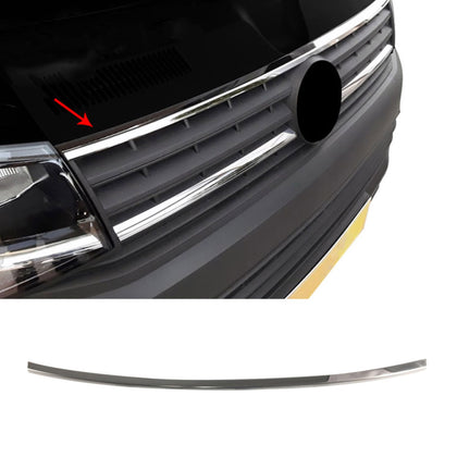 Chrome Front Upper Grill Trim Streamer S.Steel Fits VW T6 Transporter 2015-2019