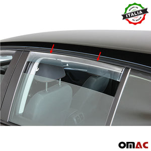 Side Window Smoke Vent Visor Rain Guards Air Deflector for BMW X1 F48 2015-
