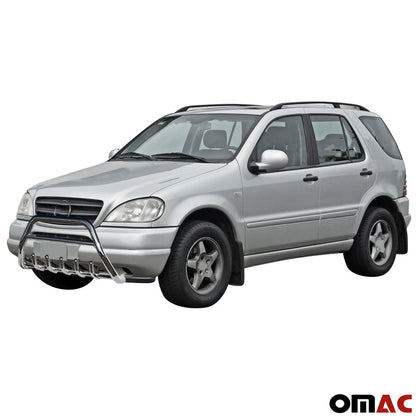 Omac usa - MERCEDES ML W163 2002-2005 Bull Bar Front Bumper Protect Guard Stainless Steel - Omac Shop Usa - Auto Accessories