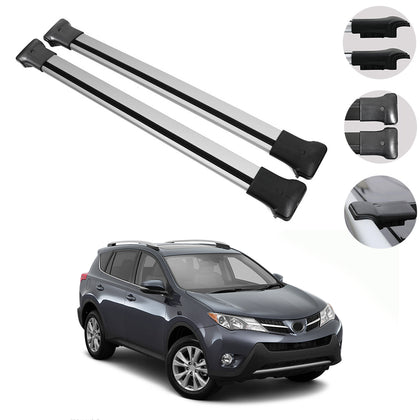Roof Rack Cross Bars Luggage Carrier Silver for Toyota RAV4 2013-2018