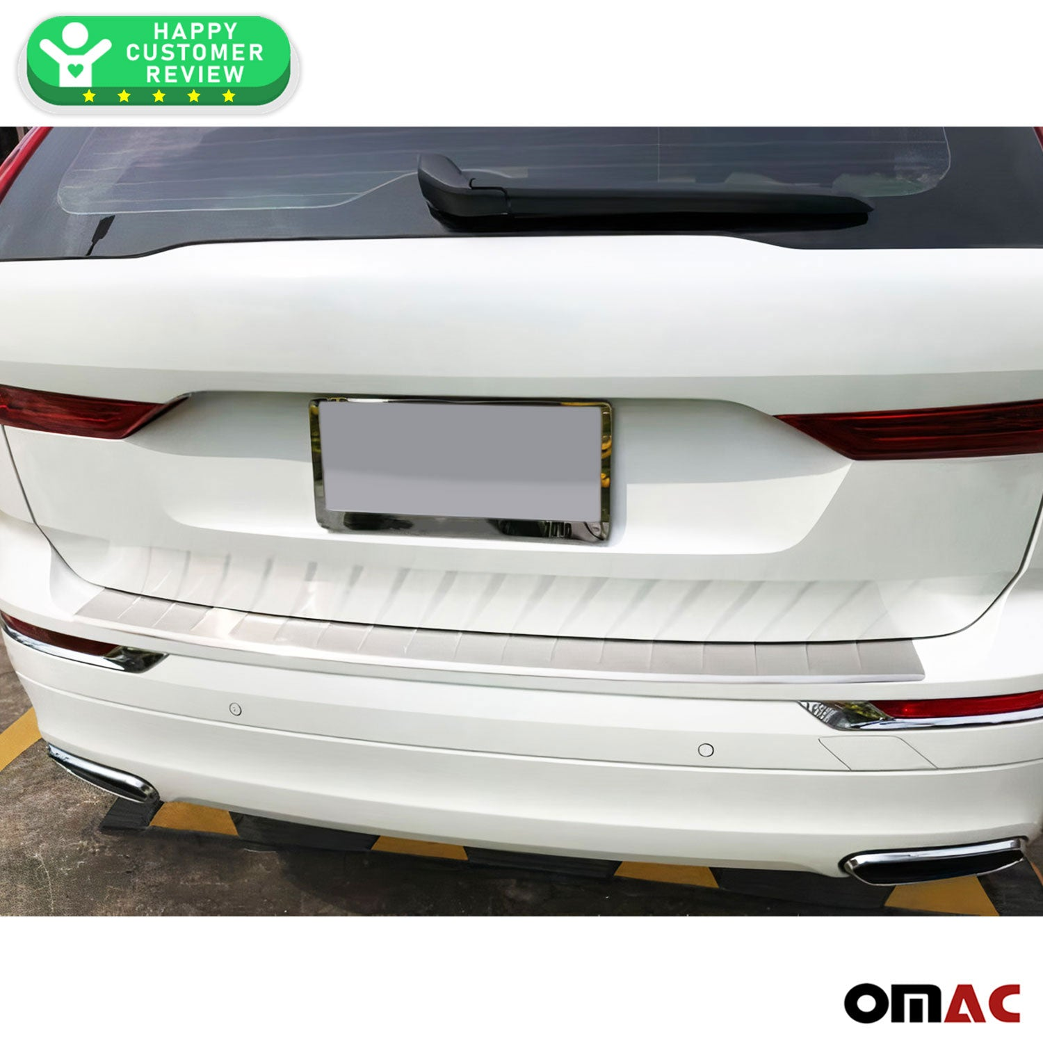 Chrome Rear Bumper Guard Trunk Sill Protector Brushed Fits Volvo XC60 2018-2021