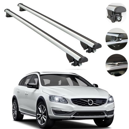 Roof Rack Cross Bars Luggage Carrier for Volvo V60 Cross Country Wagon 2015-2018