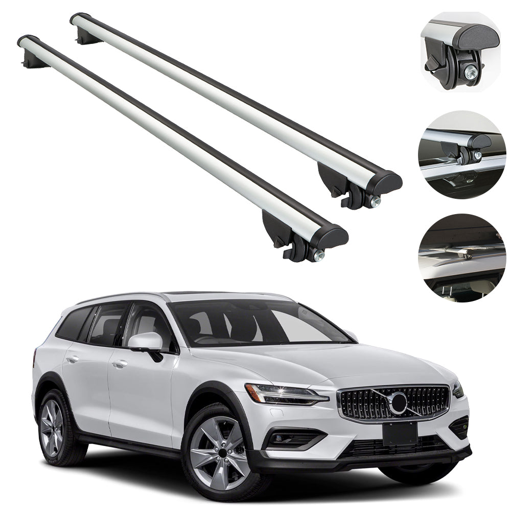Roof Rack Cross Bars Luggage Carrier for Volvo V60 Cross Country Wagon 2019-2020