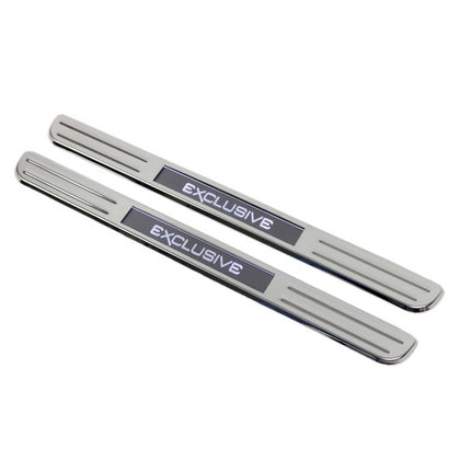 Fits Chevy Sonic 2012-2019 S.Steel Chrome LED Door Sill Cover EXCLUSIVE 2 Pcs Omac Shop Usa - Auto Accessories