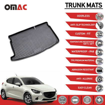 Fits Mazda 2 HB Rear Cargo Trunk Floor Mat Molded Boot Tray Liner 2011-2014 Omac Shop Usa - Auto Accessories