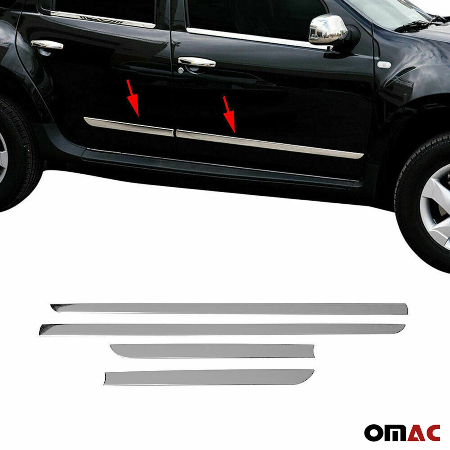 FORD KUGA 2008-2012 Chrome Side Body Door Protect Trim Stainless Steel