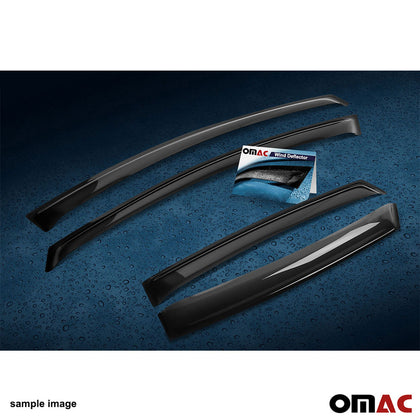 Omac usa - Side Window Smoke Vent Visor Rain Guards Deflector 4Pcs for Audi Q7 4L 2006-2015 - Omac Shop Usa - Auto Accessories