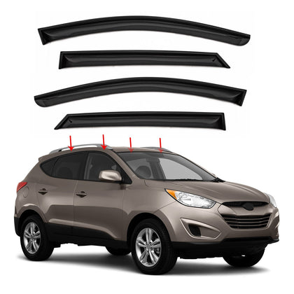 Window Visor Vent Sun Shade Rain Guard 4pcs For Hyundai Tucson 2010-2015