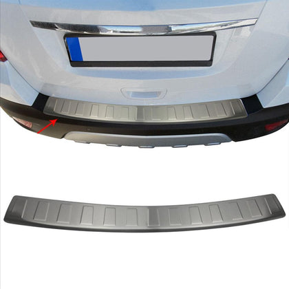 Chrome Rear Bumper Guard Trunk Sill Protector Brushed For Opel Mokka X 2016-2020