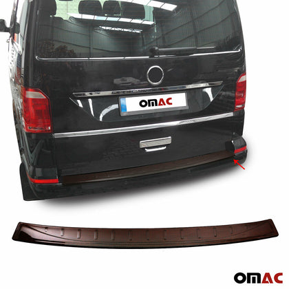 For VW Transporter T6 2015-2019 Genuine Red Carbon Rear Bumper Guard Trunk Sill