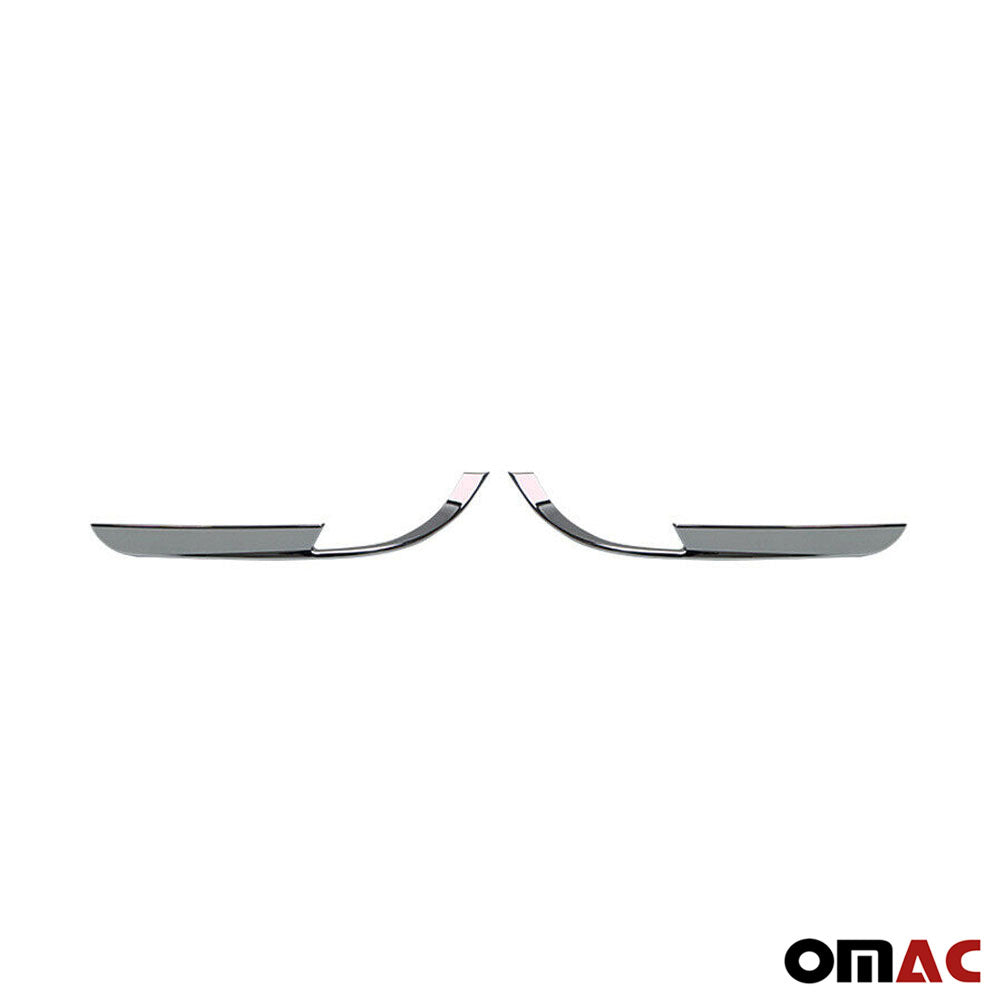 For BMW X1 F48 2016-2021 Chrome Rear Reflector Light Frame Trim Left Right 2 Pcs