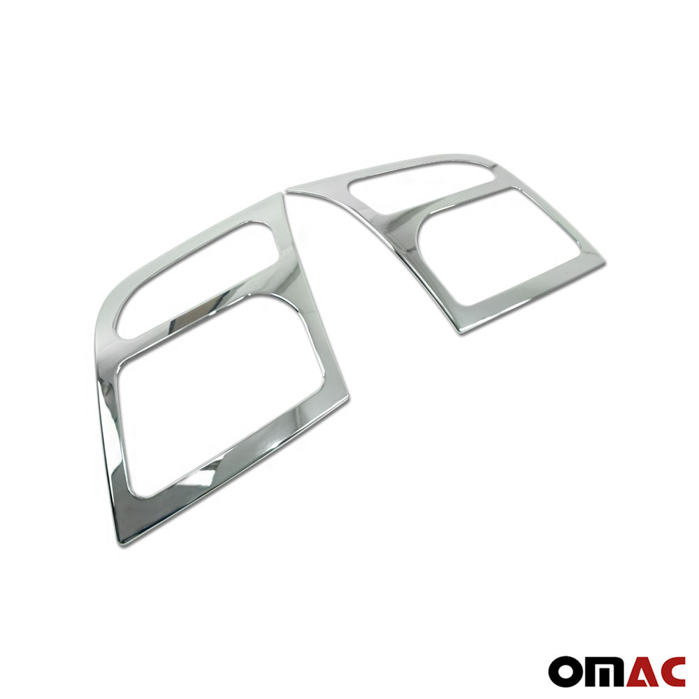 Fits Ford Transit Connect 2010-2013 Chrome Headlight Trim Overlay Frame 2 Pcs