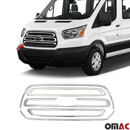 For Ford Transit 250 2015-2020 Chrome Front Grill Outer Frame Trim Kit 5 Pcs