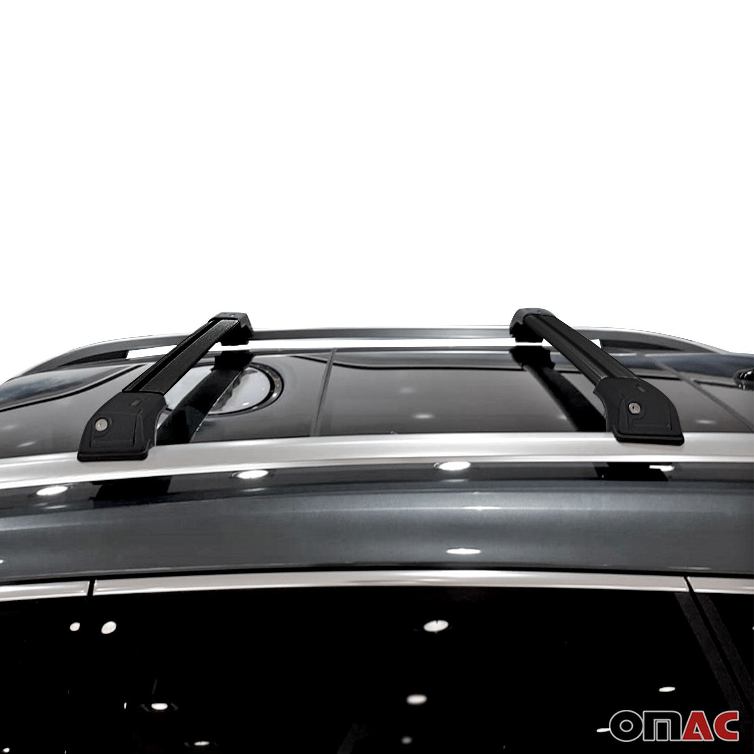 Roof Rack Cross Bars Luggage Carrier Black for Nissan Murano 2003-2008