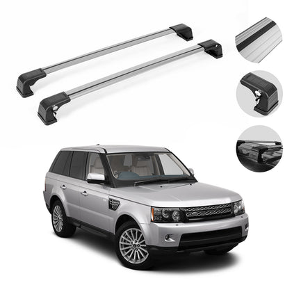 Roof Rack Cross Bars Luggage Carrier Silver  for Range Rover Sport 2006-2013