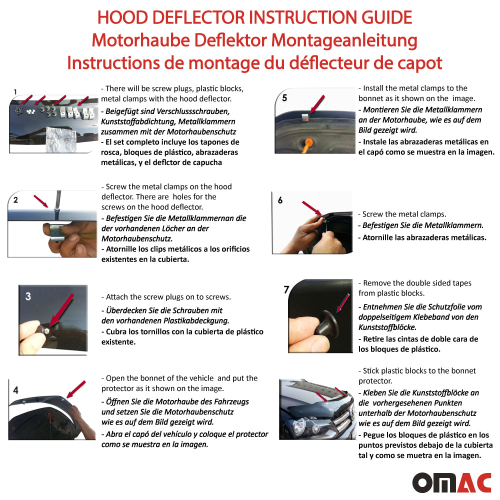 Audi Q7 4L 2006-2015 Bug Shield Hood Deflector Guard Bonnet Protector