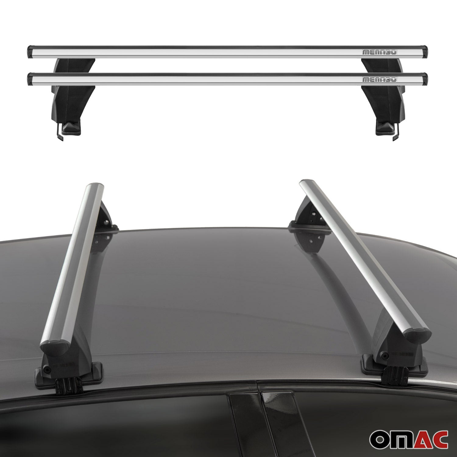 Smooth Top Roof Rack Cross Bar Luggage Carrier For VW Jetta A5 Sedan 2005-2010