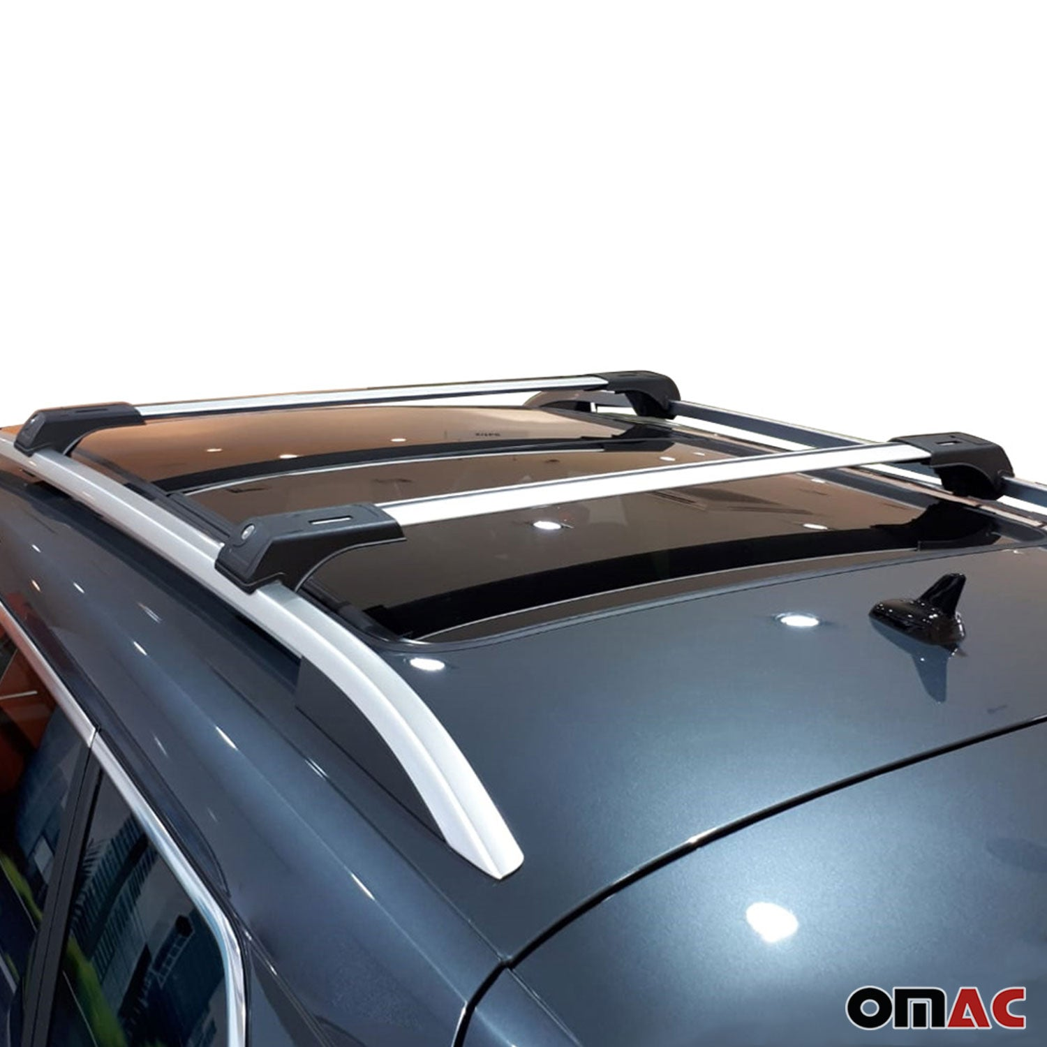 Roof Rack Cross Bars Luggage Carrier Silver Set 2Pcs for Mercedes ML 2012-2019