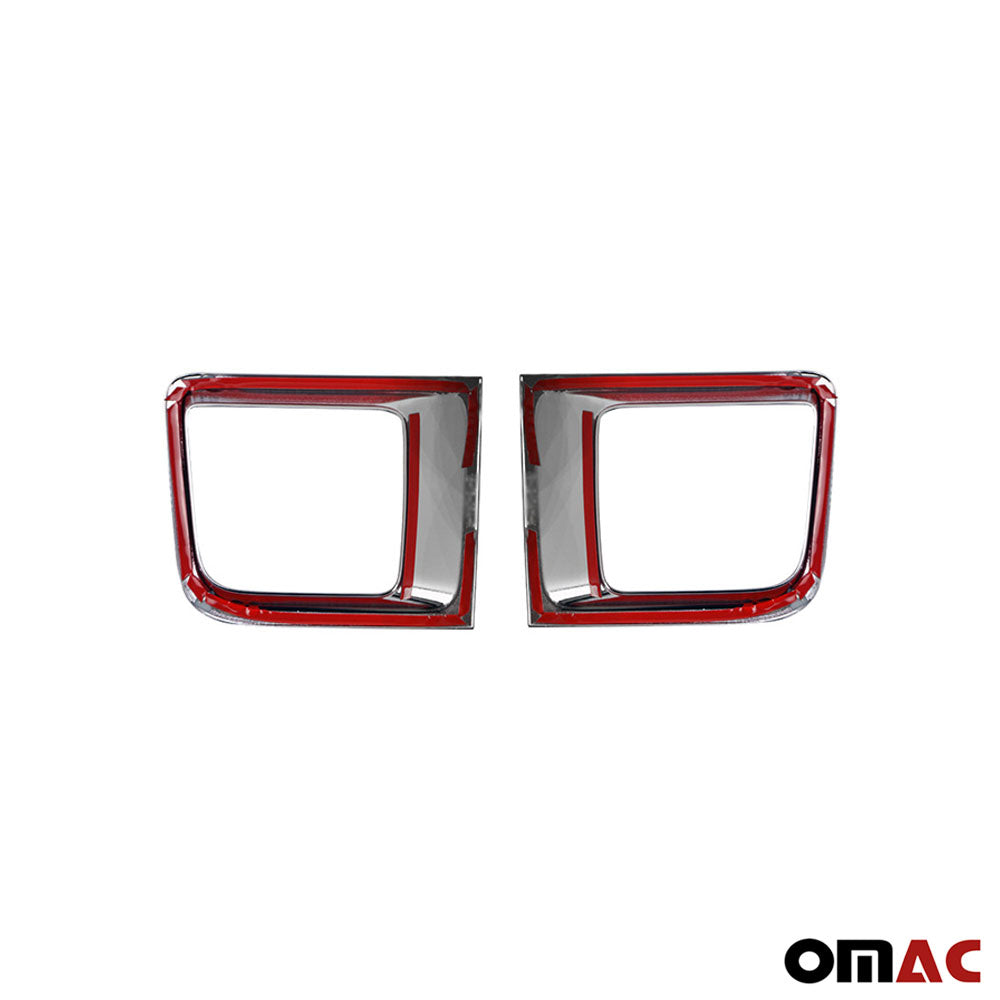 Fits Jeep Renegade 2015-2019 Chrome Front Bumper Trim Frame Red 2 pcs