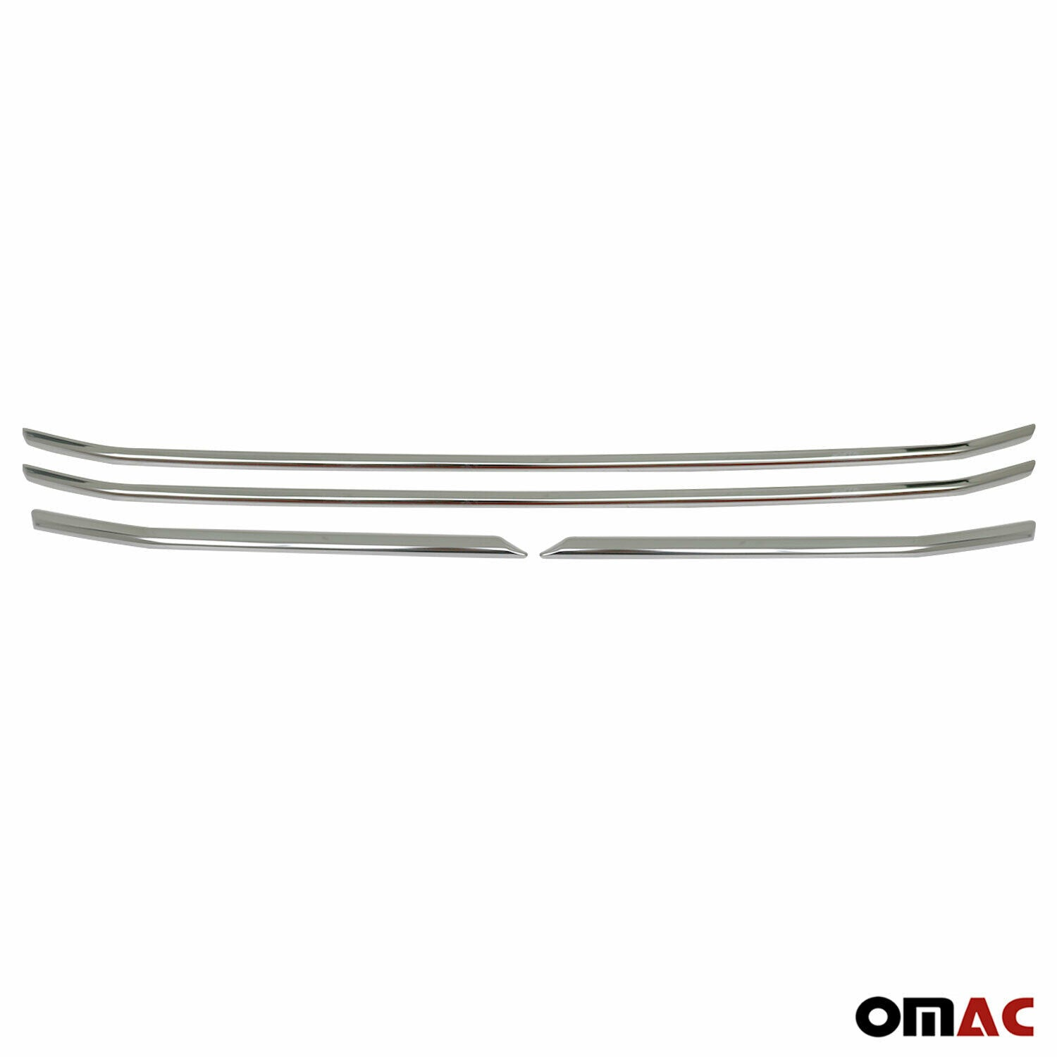 Chrome Front Grill Trim Stainless Steel 4 Pcs For Ford Transit 2019-2021
