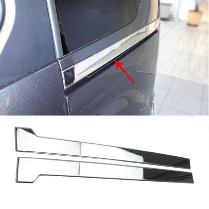 For Ford Transit Connect 2014-2020 Chrome Sliding Door Trim S.Steel L1 2 Pcs