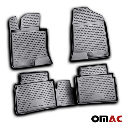Floor Mats Liner 3D Molded Black Fits Hyundai Sonata 2011-2014 Omac Shop Usa - Auto Accessories